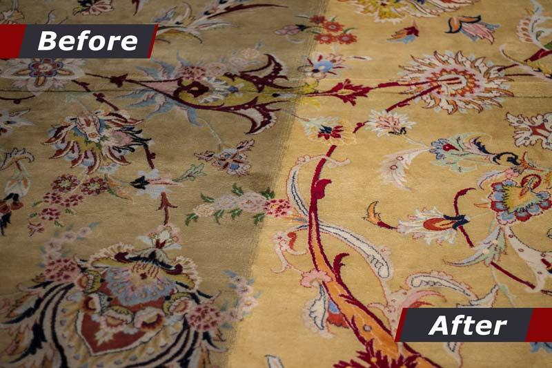 Cleaning of carpets showing before and after cleaning. cleaning company, cleaning carpet